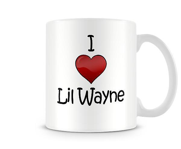 Jeg elsker Lil Wayne trykte krus