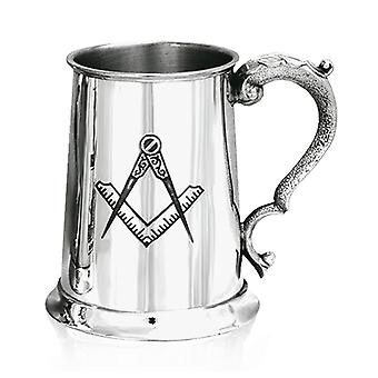 Masonic Pewter Tankard - 1 Pint