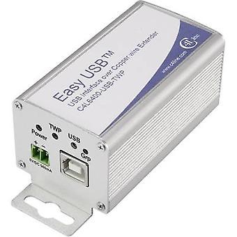 Einzelne Adapter USB-Verlängerung über RJ45 Netzwerkkabel Renkforce C4L6400-USB-TWP 600 m