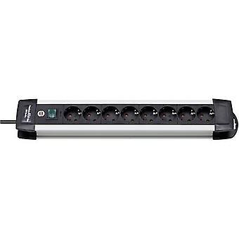 Brennenstuhl 1391000018 Socket strip (+ switch) 8x Black, Aluminium PG connector