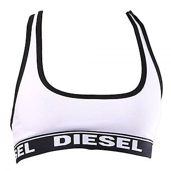 DIESEL Women Miley Cotton Bralette, White, Large