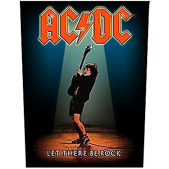 AC/DC Let There Be Rock Jumbo storlek sy-på duk Backpatch