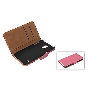 Mobiele telefoon geval (flip Kruis) dekking voor mobiele Samsung Galaxy S5 / S5 neo roze