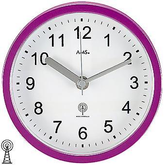 Настенные часы / Таблица радио-часы фиолетовый водонепроницаемый ванной часы пластиковый корпус
