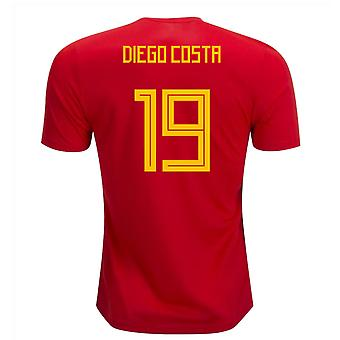 2018-19 Spain Home Shirt (Diego Costa 19) - Kids