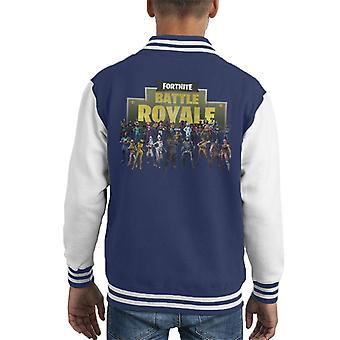 Fortnite Battaglia Royale vacanza Mix pelli Varsity Jacket di capretto