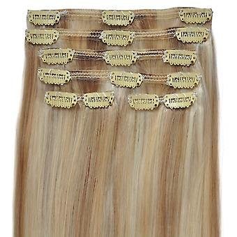 #60/22/18 California Blonde Highlights - Clip-in Hair Extensions - Full Head