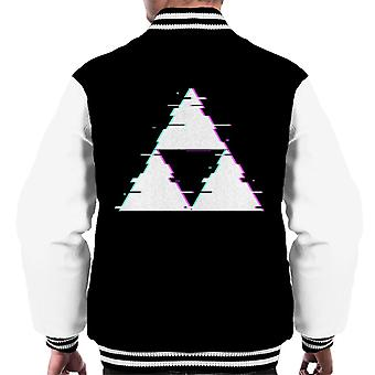 Glitch Triforce Legend Of Zelda mäns Varsity jacka