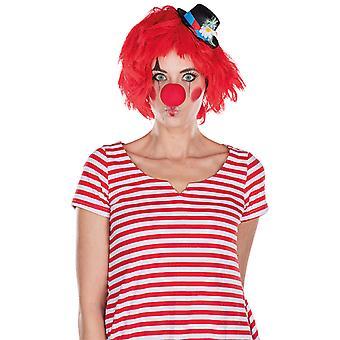 Clown Perücke rot Kobold Accessoire Karneval Halloween Strubbelkopf