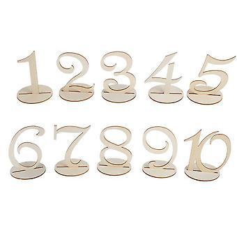 TRIXES aus Holz Hochzeitstafel nummeriert Platzierung Karten 1-10
