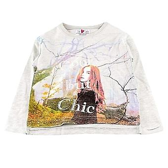 Lily & Lola Kids Girls Junior Childrens Cool But Chic Cotton Jumper Top - Grey
