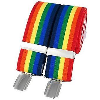 David Van Hagen Classic Striped Fashion Brace - Multi-colour