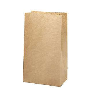 100 Large Brown Kraft Paper Bags with Gussets | Kids Party Loot Bags