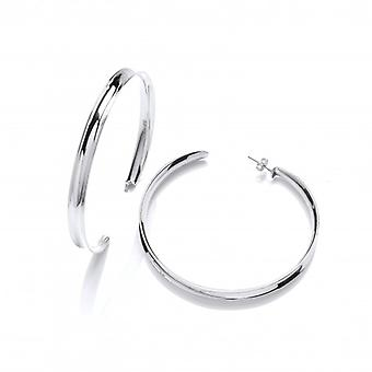 Cavendish French Silver Supersize Hoop Earrings