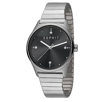 ESPRIT Ladies Womans Watch Analogue VinRose Black Silver Matt Quartz