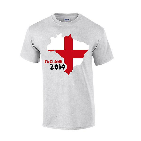 England 2014 Country Flag T-shirt (grey)
