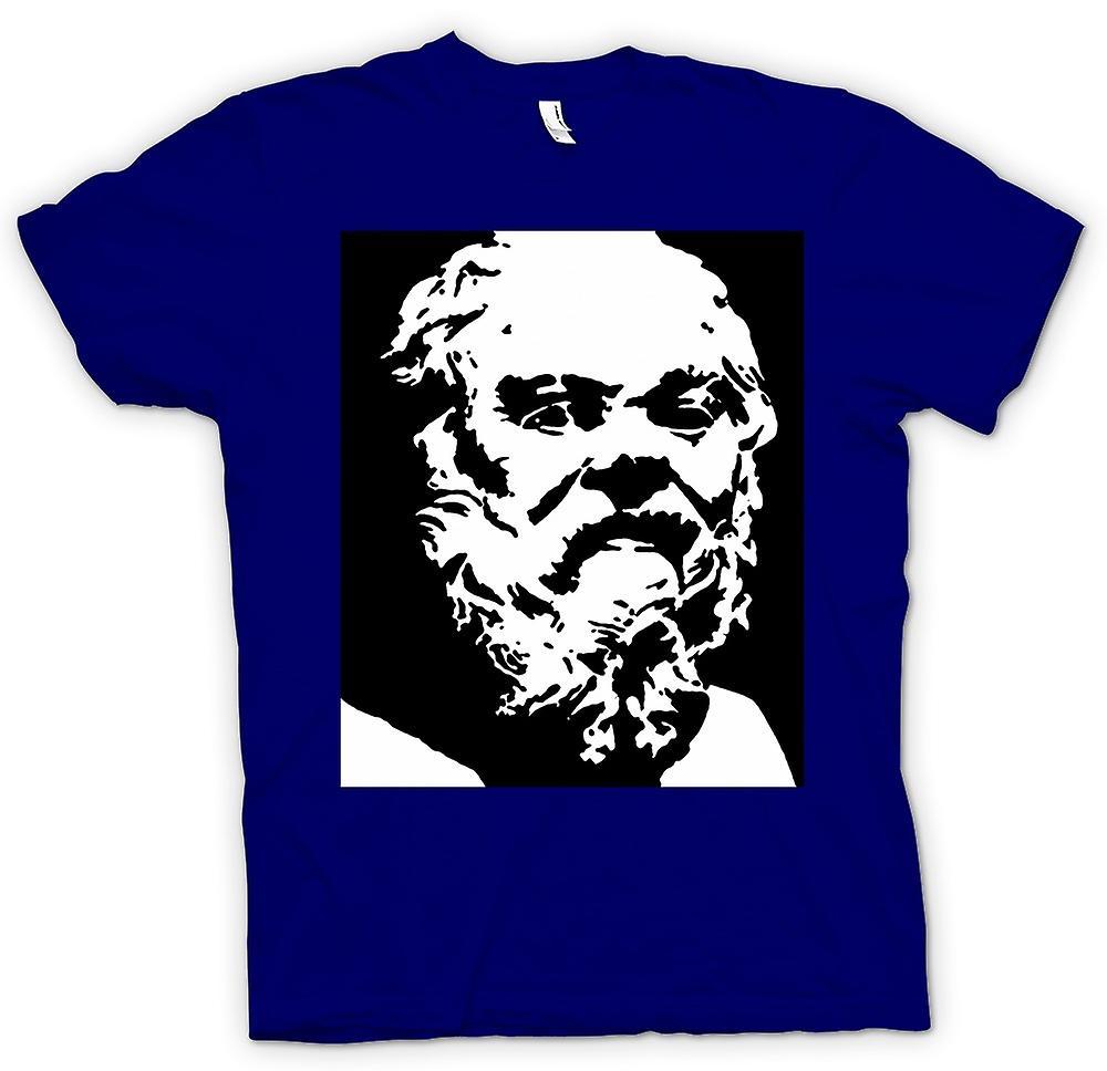 Hommes T-shirt - Socrate - Stencil Icône