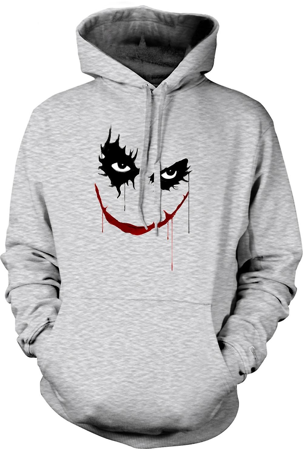 Mens hettegenser - Joker smilende - Batman - Pop Art