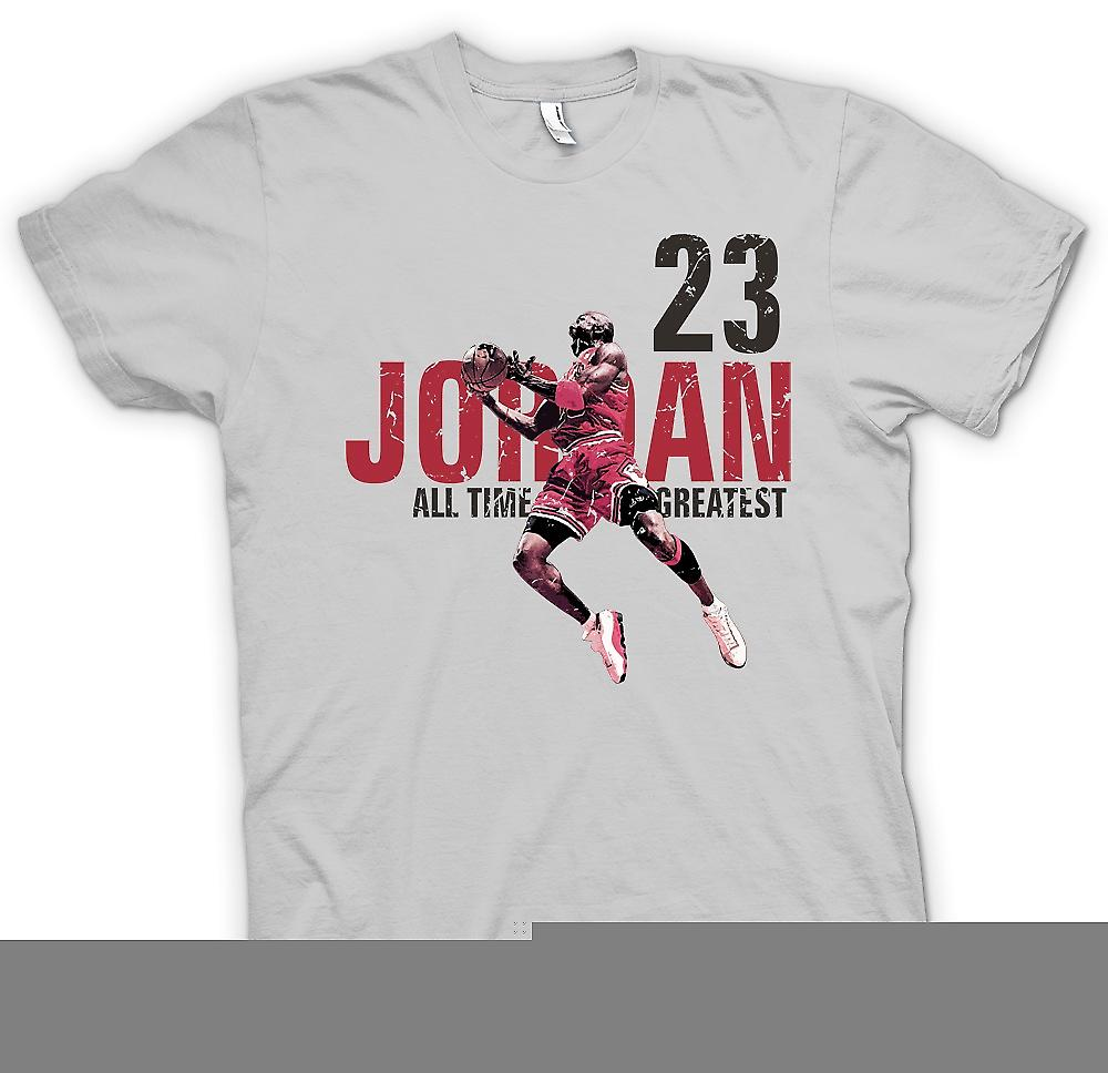 Heren T-shirt - Jordon - 23 - Time All Greatest