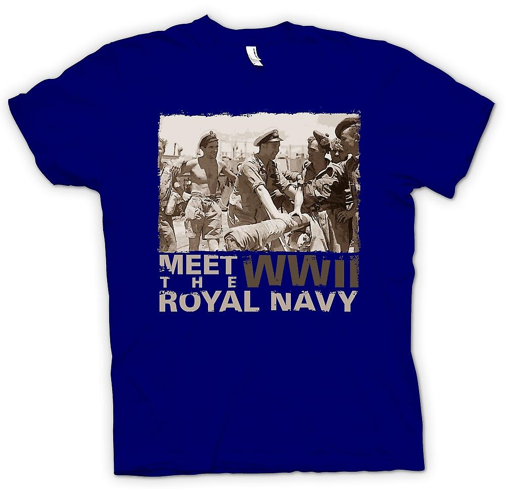 Heren T-shirt - voldoen aan de Royal Navy WW2