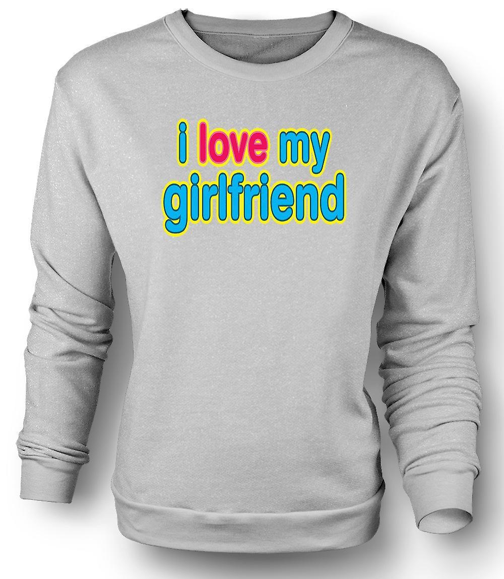 Mens Sweatshirt jeg elsker kjæresten min - morsomt