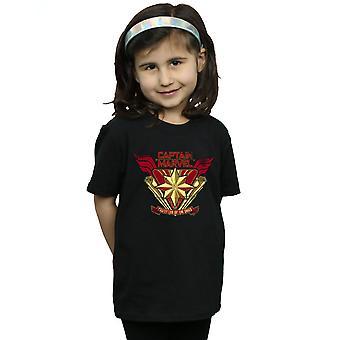 Marvel jenter Captain Marvel beskytter av himmelen t-skjorte