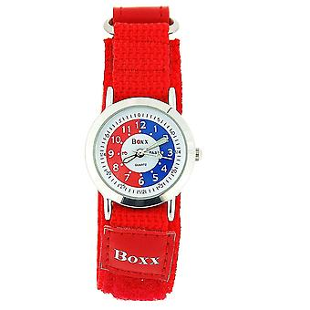 Boxx Girls Time Teacher Red & White Dial Easy Fasten Strap + Telling Time Award