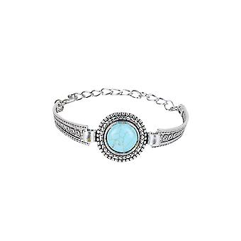 Bracelet en métal Lovemystyle argent avec Pierre Turquoise