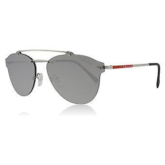 Prada Sport PS55TS 1BC2B0 Silver PS55TS Pilot Sunglasses Lens Category 3 Lens Mirrored Size 59mm