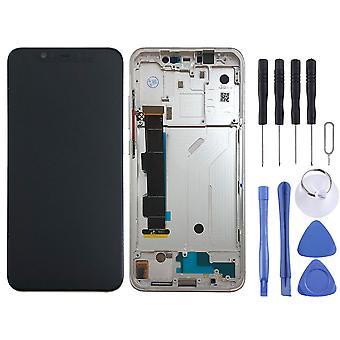 Für Xiaomi Mi 8 Display Full LCD Einheit Touch mit Rahmen Ersatzteil Reparatur Weiß Neu