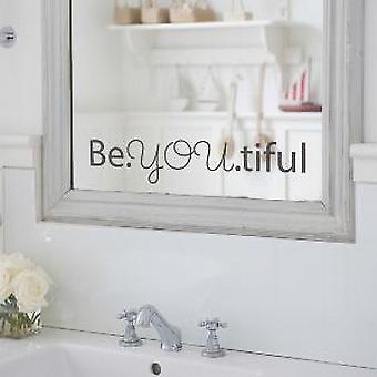 Beyoutiful-stor Wall klistremerke