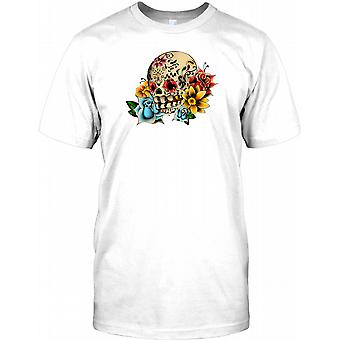 Mexicaine tatouage de crâne de sucre - Crucifix Mens T Shirt