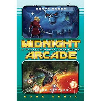 Crypt Quest/Space Battles: A Play-Your-Way Adventure (Midnight Arcade)