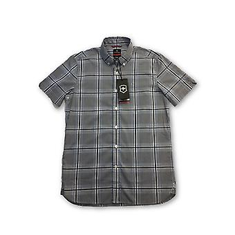 Victorinox 'Bundner' tailored fit hirt in grey/blue check