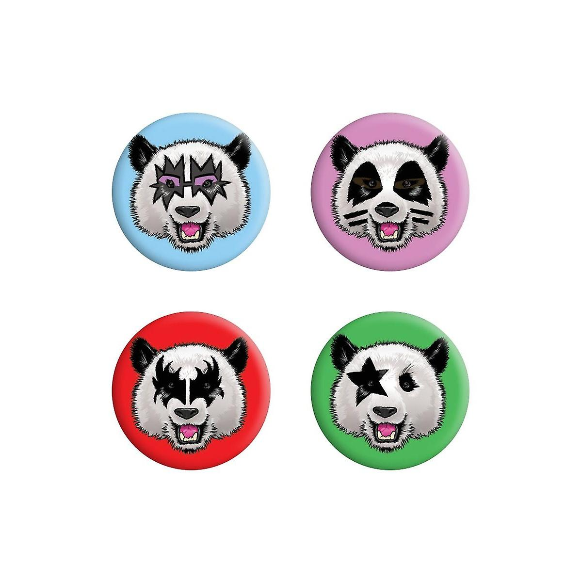 Badge Pandas Grindstore Kiss Badge Grindstore Pandas Pack Kiss TFcJ3ulK51