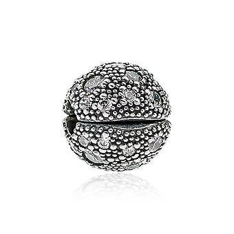 Pandora kosmiska stjärnor silver & klar CZ Clip 791286CZ