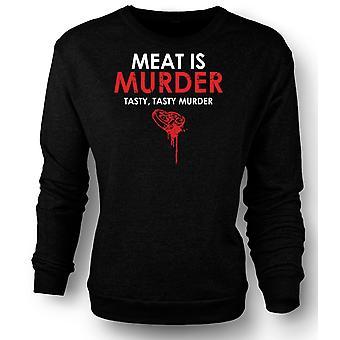 Sudadera para hombre carne es asesinato, asesinato Sabroso sabroso - gracioso