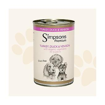 Simpsons Premium Turkey Duck & Venison Casserole Puppies Wet Dog Food