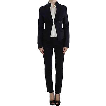 Exte Black Stretch Cotton Suit -- SIG3743920