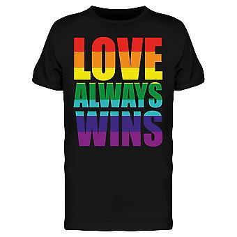 Gay Pride Love gewinnt immer Tee Men's -Bild von Shutterstock