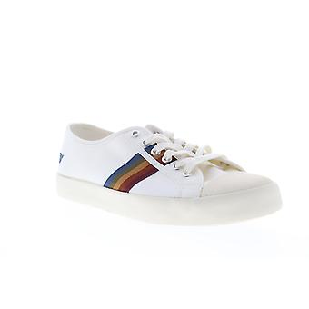Gola Coaster Spectrum  Mens White Canvas Casual Low Top Sneakers Shoes