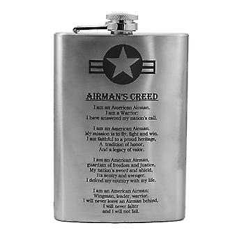8oz airmans creed flask l1