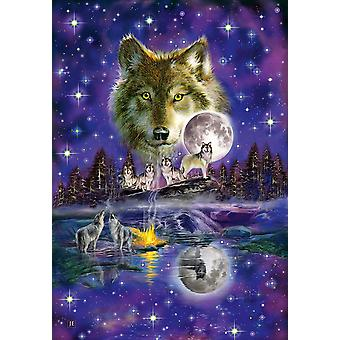 Schmidt Wolf in The Moonlight Premium Jigsaw 1000-Piece
