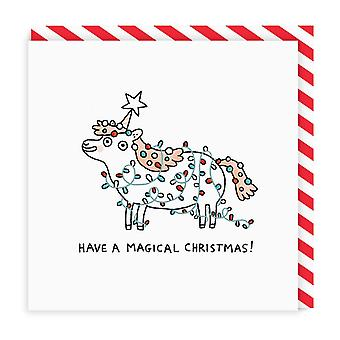 Ohh Deer Magical Christmas Square Greeting Card
