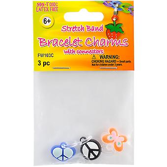 Stretch Band Charms 3 Pkg Fw103c