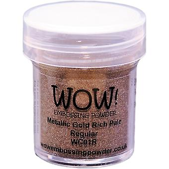 Wow! Embossing Powder 15Ml Gold Rich Pale Wow Wc01r