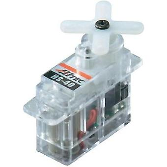 Hitec Micro servo Servo HS-40 Analogue servo Gear box material: Plastic Connector system: JR