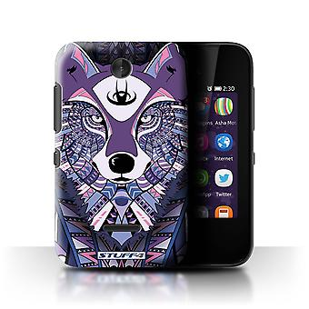 STUFF4 Case/Cover for Nokia Asha 230/Wolf-Purple/Aztec Animal
