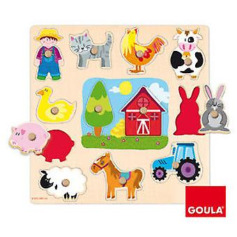 Goula Silhouettes Farm Puzzle (Toys , Preschool , Puzzles And Blocs)