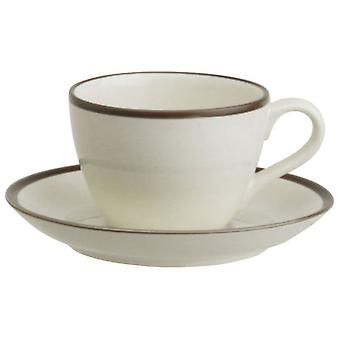 Avet Coffee Tea With 240 Ml Plate Set of 6